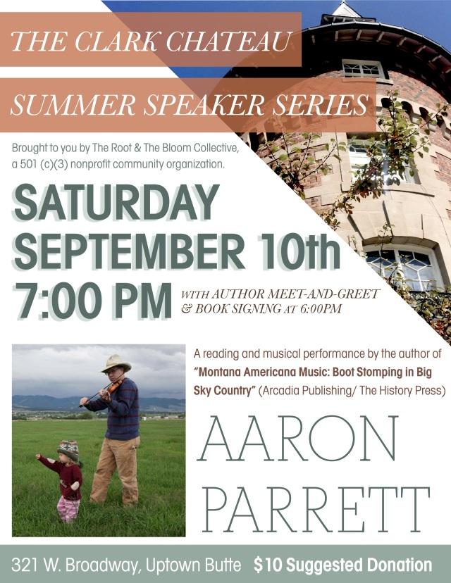 Speaker Series Aaron Parrett